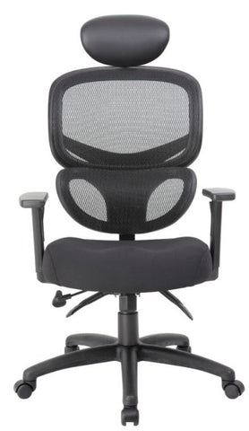 Boss Multi-Function Mesh Task Chair w/Headrest - B6338-HR