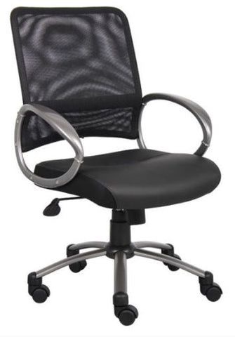 Boss Mesh Back W/ Pewter Finish Task Chair - Model: B6406