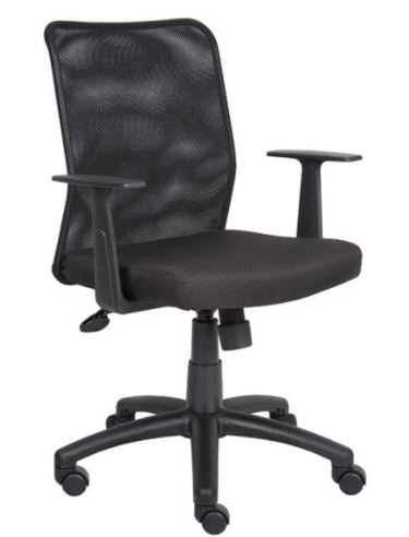 Boss Budget Mesh Task Chair W/ T-Arms - Model: B6106