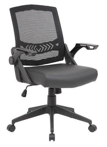 Boss Black Flip Arm Mesh Task Chair - Model: B6223-BK