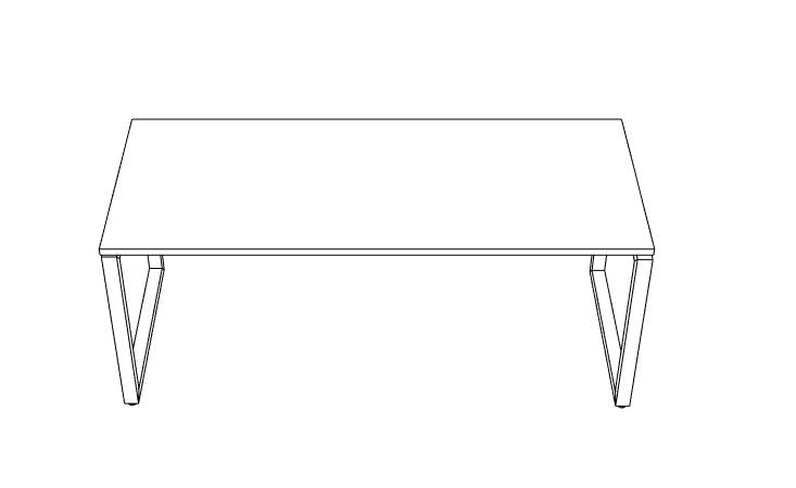MJ Laminate Series Loop Leg Desk