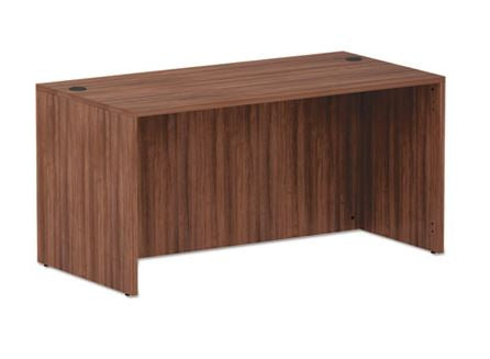 Alera Valencia Series Straight Front Desk Shell-Modern Walnut