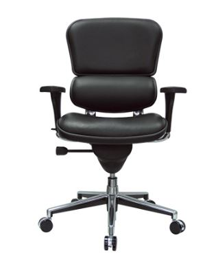 EUROTECH ERGOHUMAN ERGONOMIC LEATHER EXECUTIVE OFFICE CHAIR