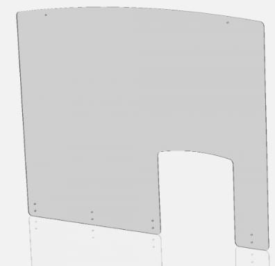 "Sneeze Guard – 48"" x 36"" Screw-on Shield with Access Hole"