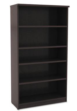 Alera Valencia Series Bookcase, Five-Shelf, 31 3/4w x 14d x 64 3/4h