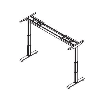 Friant Adjustable Height Base 3 stage -2 leg-T LEG