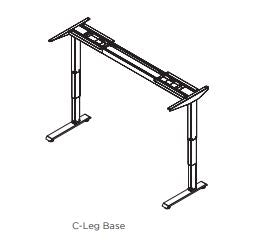 Friant Adjustable Height Base 3 stage -2 leg-C LEG