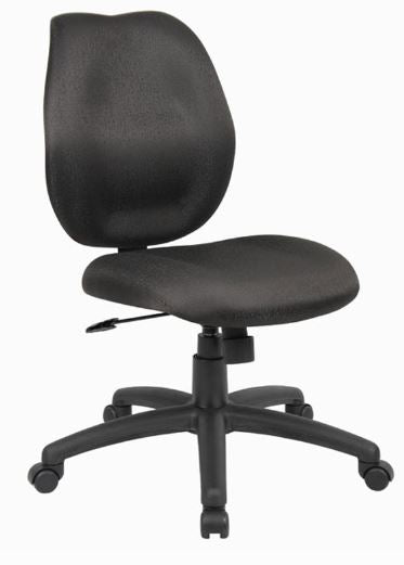 Boss Mid-Back Task Office Chair without Arms, Black - Model: B1016-BK