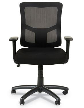 Alera Elusion II Series Mesh Mid-Back Swivel/Tilt Chair with Adjustable Arms-ALEELT4214F
