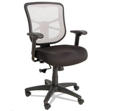 Alera Elusion Series Mesh Mid-Back Swivel/Tilt Chair-ALEEL42B04