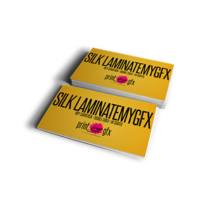 2x3.5 Business Cards (16pt Silk Lamination)