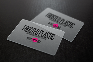 2x3.5 Business Cards (20pt Frosted Plastic)