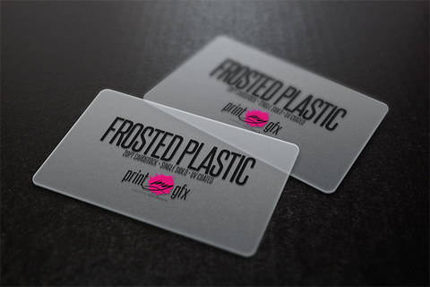 Business cards exclusive printmygfx 2x35 business cards 20pt frosted plastic colourmoves