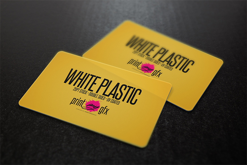 2x35 business cards 20pt white opaque plastic printmygfx 2x35 business cards 20pt white opaque plastic colourmoves