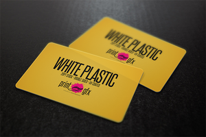 2x3.5 Business Cards (20pt White Opaque Plastic)