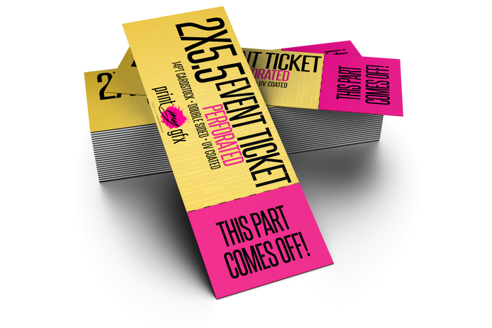 2x5.5 Event Ticket (Perforated)