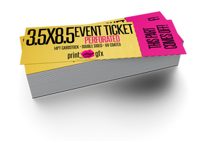 3.5x8.5 Event Ticket (Perforated)