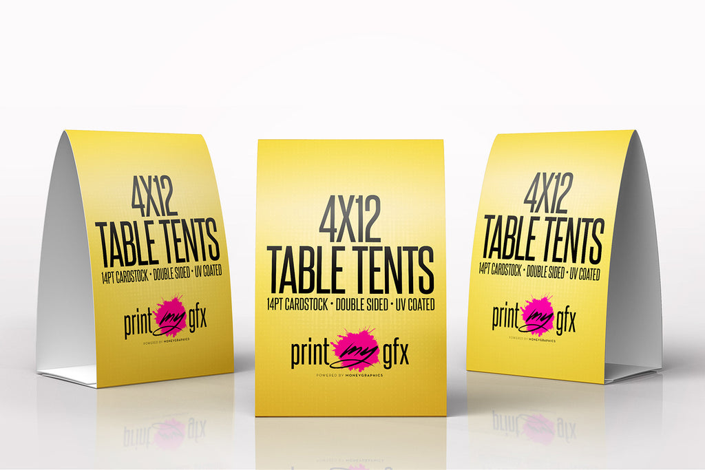 X Table Tents Prescored To Fold To X Printmygfx - 4x6 table tent