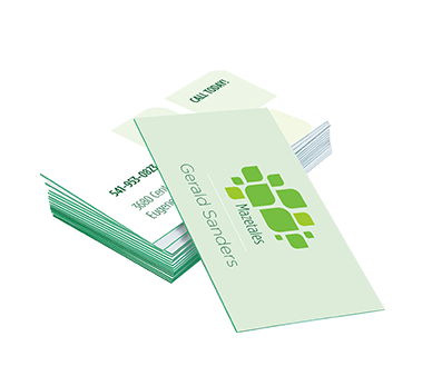2x3.5 Business Cards (24pt Ultimate Triple Layer Green)