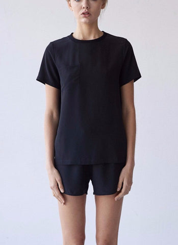 James 100% Silk Crepe de Chine Tee