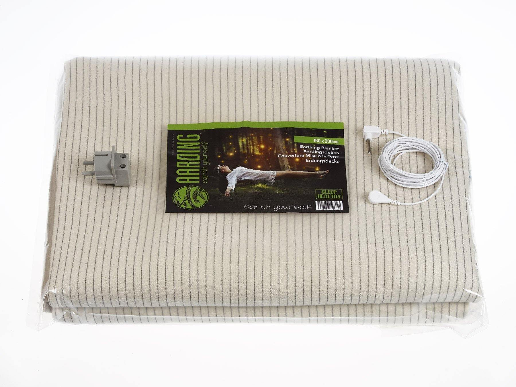 "Grounding Plush Blanket 160 x 200cm (63"" x 80"") (incl. cable 5 m and adapter) - Aarding"