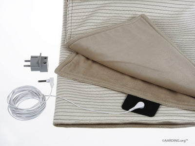 Set 1 Grounding Blanket + 1 Fitted Sheet 1 pers. (incl. cables and adapters) - Aarding