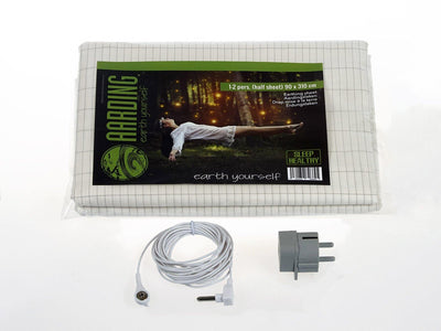 Set 1 Grounding Half (Flat) Sheet + 2 Pillow Cases (incl. cables and adapters) - Aarding