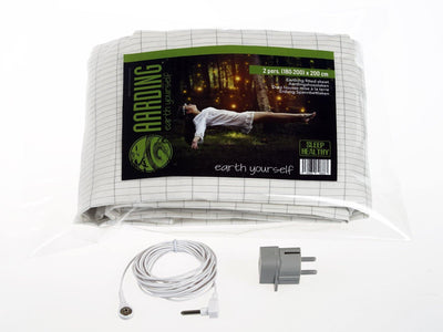 Set 2 Grounding Fitted Sheets 2 pers. (incl. cables and adapters) - Aarding
