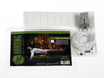 Set 2 Grounding Pillow Cases (incl. cables and adapters) - Aarding