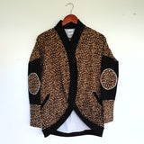 Cheetah / Black Cardigan