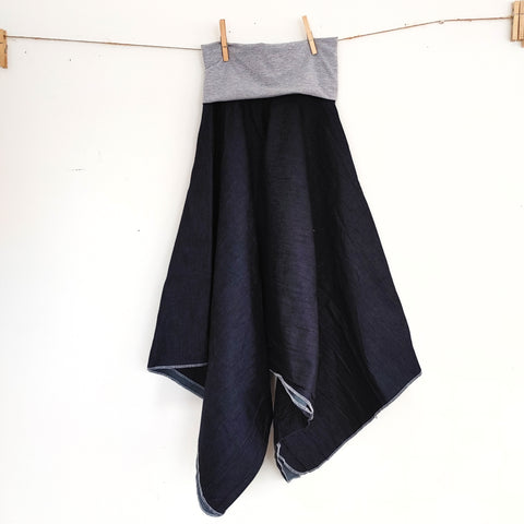 Dark Blue Denim Kerchief Skirt