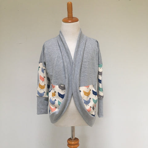 Heather Grey/Roost Cardigan
