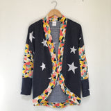 Blue Star/Geometric Cardigan