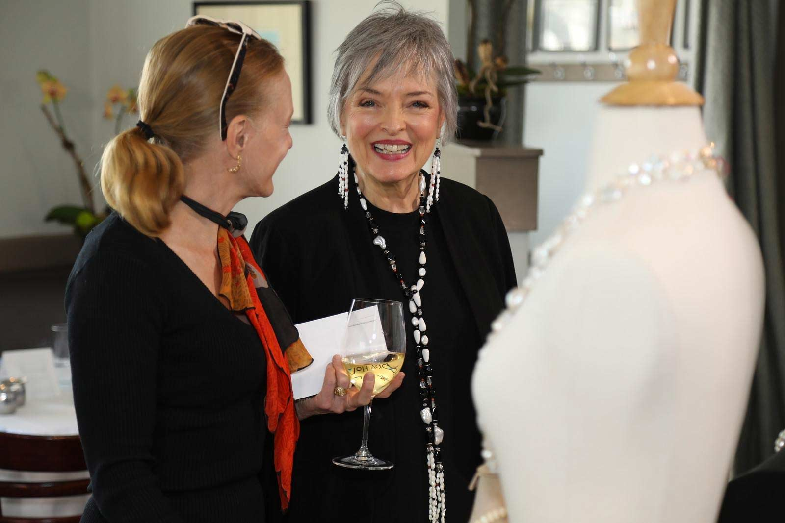 Peggy Herrman of White Orchid Fine Jewelry at High Tea