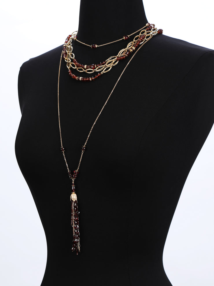 Wine and Gold 1: Tasseled Rope-Garnet Gold