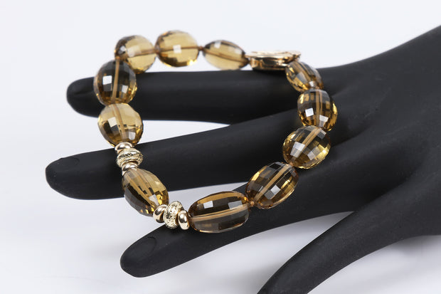 Warm Glow: Bracelet-Golden Quartz Gold