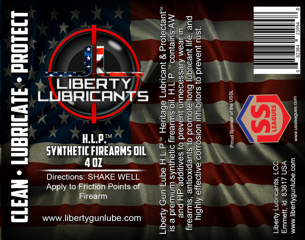 Liberty Gun Lube Introduces H.L.P. Premium Synthetic Gun Oil! ~ Get a free 1 ounce bottle with every 4 ounce H.L.P. purchased!