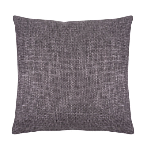 Carmine Gray Woven Decorative Throw Pillow