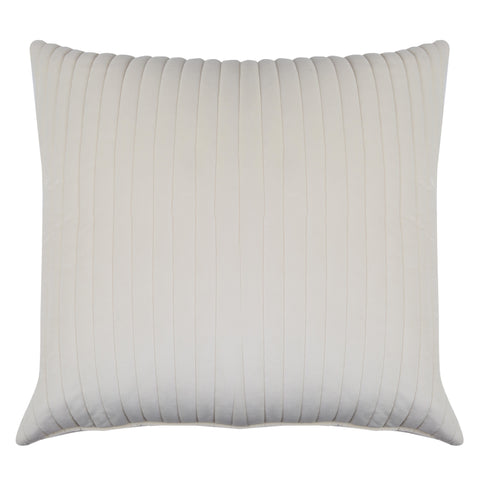 Waverly Ivory Quilted Velvet Euro Sham