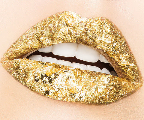 Waverly Gold Foil Lips by Herve Dunoyer - EXCLUSIVE ArtStar for twelvehome