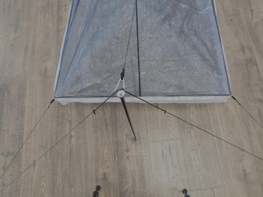 Rigging for stand-alone bivy pitch
