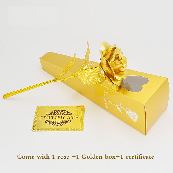 The Personalised 24kt Gold Rose
