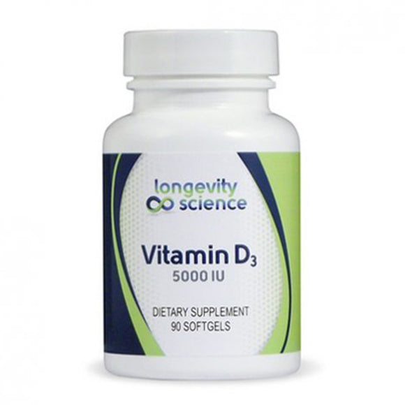 Longevity Science Vitamin D3 5000IU/長寿の科学ビタミンD3 5000 IU