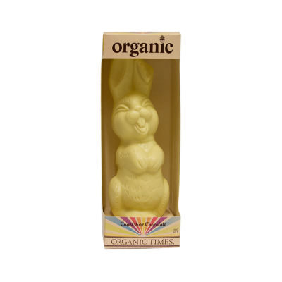 White Chocolate Easter Bunny 200g - Organic Times