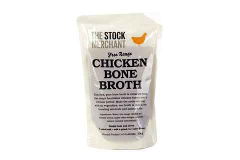 Free Range Chicken Bone Broth 500g - The Stock Merchant
