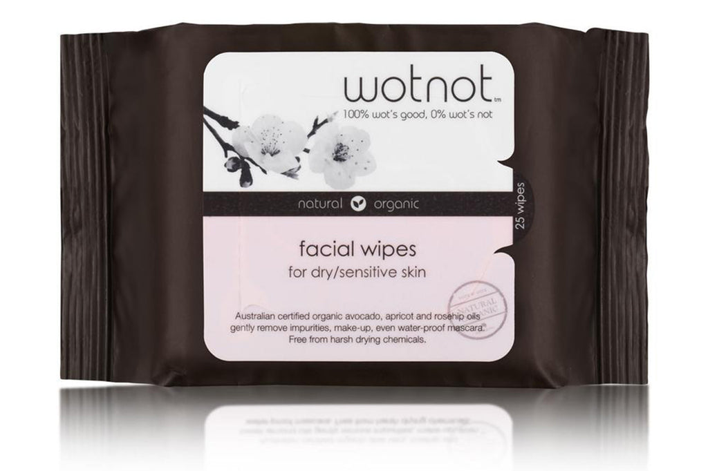 Natural Face Wipes for Dry and Sensitive Skin 25pk - Wotnot