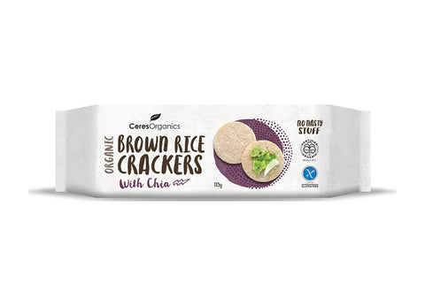 Brown Rice Crackers with Chia - Ceres Organics