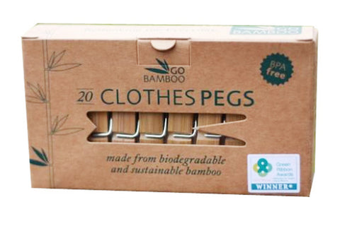 Bamboo Clothes Pegs - Go Bamboo