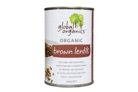 Brown Lentils 400g - Global Organics