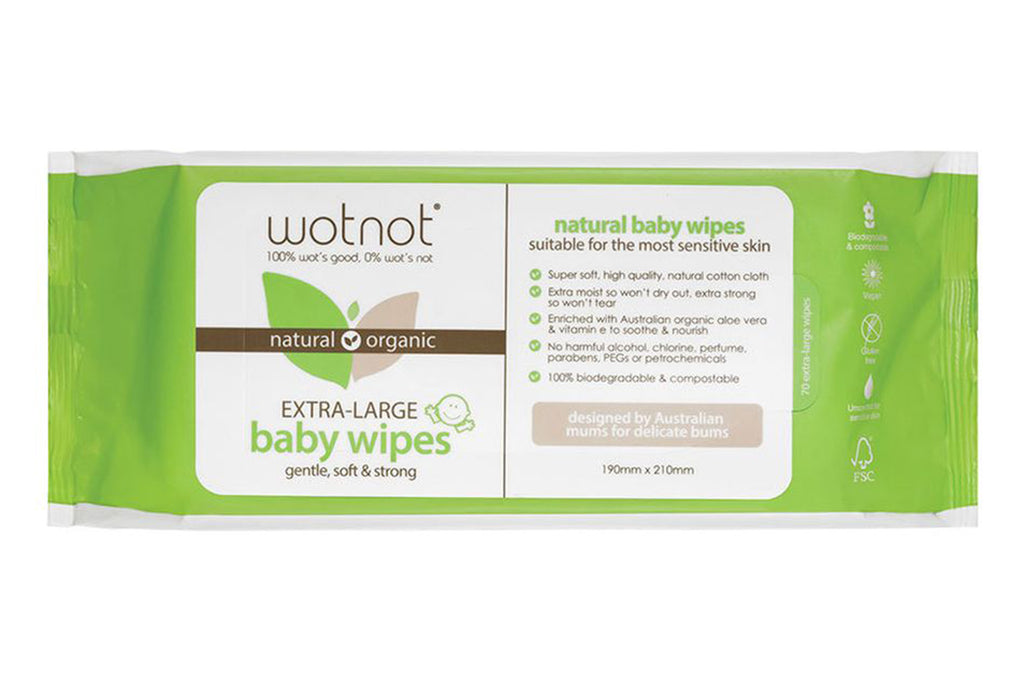 70 Biodegradable Baby Wipes - Wotnot